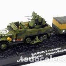 Hobbys: ALTAYA - M16 MGMC & 1-TOM TRAILER 447 AAA BATALLON ARDENAS 1944 1/43. Lote 260325530