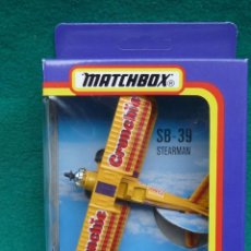 Hobbys: AVION DE ACROBACIA SB-39 STERMAN.....FLYING CIRCUS DE MATCHBOX,,EN CAJA ORIGINAL..METAL.. Lote 276093888