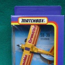 Hobbys: AVION DE ACROBACIA SB-39 STERMAN.....FLYING CIRCUS DE MATCHBOX,,EN CAJA ORIGINAL... Lote 286875333