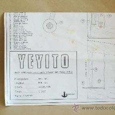 Hobbys: PLANOS DE UN AVIÓN DE AEROMODELISMO MODELHOB. YEYITO. . Lote 32421807