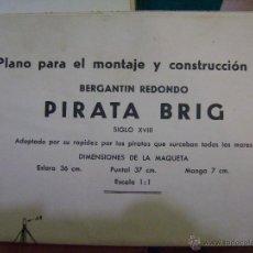 Hobbys: PLANO PARA MONTAJE Y CONSTRUCCIÓN DEL BERGANTÍN REDONDO PIRATA BRIG. CONSTRUCTO. Lote 39906747