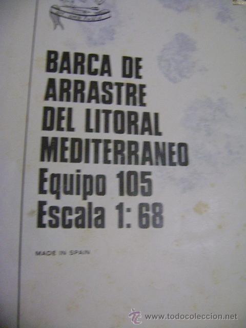 PLANO PARA MONTAJE Y CONSTRUCCIÓN DE BARCA DE ARRASTRE DEL LITORAL MEDITERRÁNEO EQUIPO 105 (Juguetes - Modelismo y Radiocontrol - Herramientas y Accesorios)