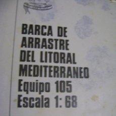 Hobbys: PLANO PARA MONTAJE Y CONSTRUCCIÓN DE BARCA DE ARRASTRE DEL LITORAL MEDITERRÁNEO EQUIPO 105. Lote 39906857
