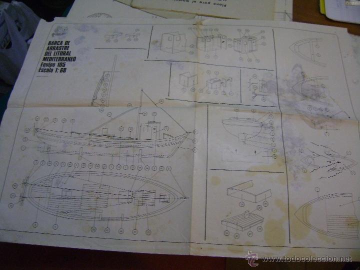 Hobbys: Plano para montaje y construcción de Barca de arrastre del litoral mediterráneo Equipo 105 - Foto 2 - 39906857