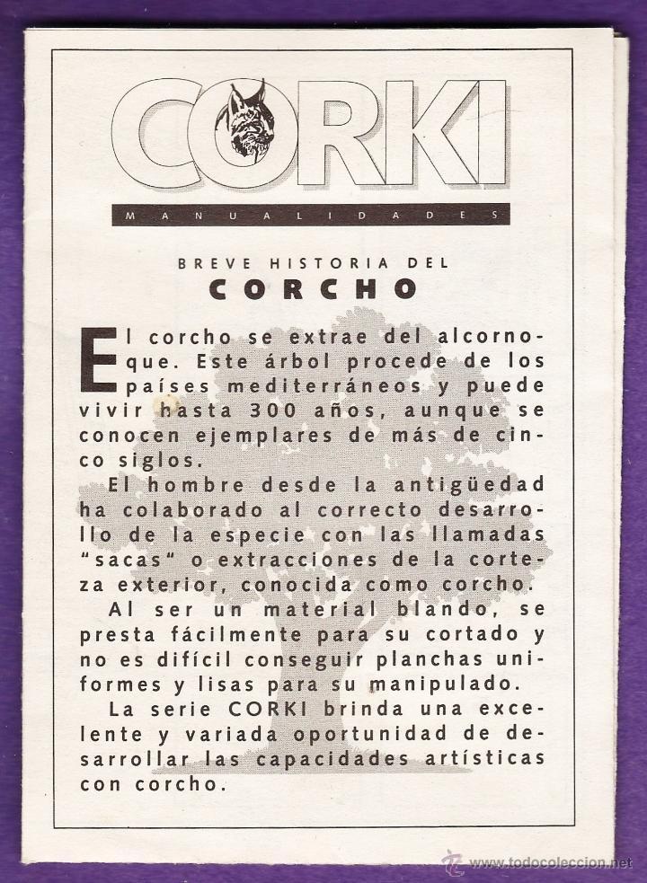 FOLLETO / INSTRUCCIONES - MANUALIDADES EN CORCHO CORKI - PUERTA ALCALA / BELEN / MOLINO - VER FOTO (Juguetes - Modelismo y Radiocontrol - Herramientas y Accesorios)