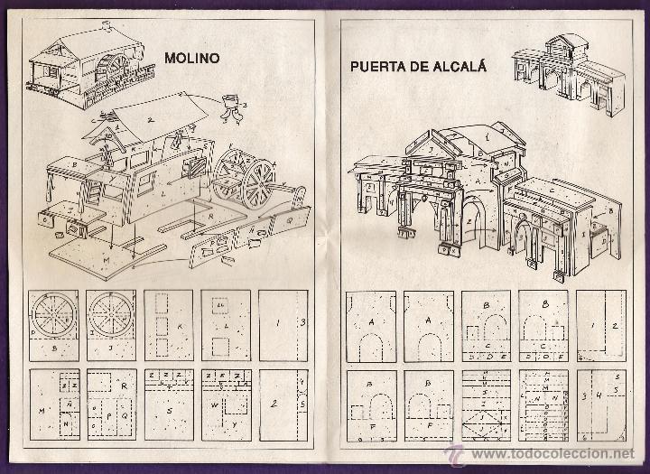 Hobbys: folleto / instrucciones - manualidades en corcho corki - puerta alcala / belen / molino - ver foto - Foto 2 - 44115556