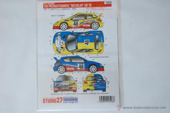Hobbys: Calcas Peugeot 206 WRC - Michelin GB 2002 V Rossi - Studio27 1/24 - Foto 2 - 51419247