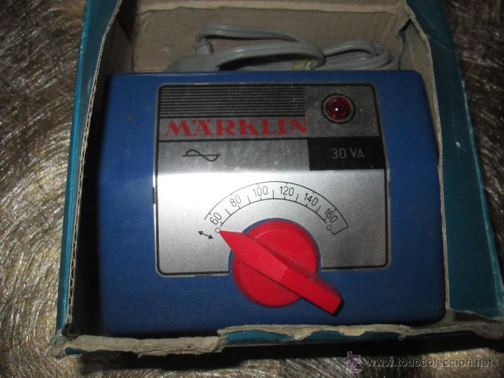ANTIGUO TRANSFORMADOR-WEST GERMANY-MAÄRKLIN 6115-125 VOLTIOS-N.O.S-C.1970-VER FOTOS. (Juguetes - Modelismo y Radiocontrol - Herramientas y Accesorios)
