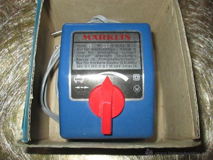 ANTIGUO TRANSFORMADOR-WEST GERMANY-MAÄRKLIN 6511-220 VOLTIOS-N.O.S-C.1970-VER FOTOS. (Juguetes - Modelismo y Radiocontrol - Herramientas y Accesorios)