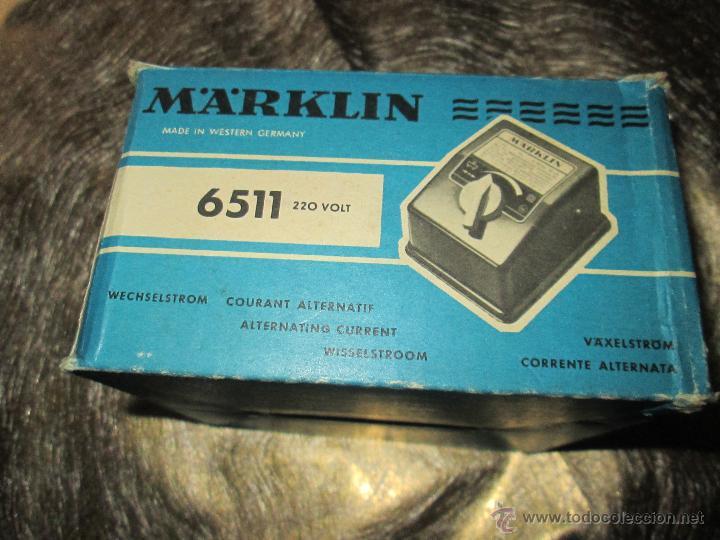 Hobbys: ANTIGUO TRANSFORMADOR-WEST GERMANY-MAÄRKLIN 6511-220 VOLTIOS-N.O.S-C.1970-VER FOTOS. - Foto 3 - 52860421