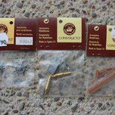 Hobbys: LOTE 3 BOLSAS CON 2 CAÑON, 2 TIMON Y MADERAS PARA MODELISMO - CONSTRUCTO. Lote 113657704