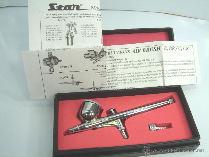 Hobbys: AEROGRAFO STAR ¡¡NUEVO¡¡ MODEL SAP - CR NOZZLE-I.D.0.3MM - AIR BRUSH ¡¡ EN CAJA ¡¡ - Foto 2 - 53654980