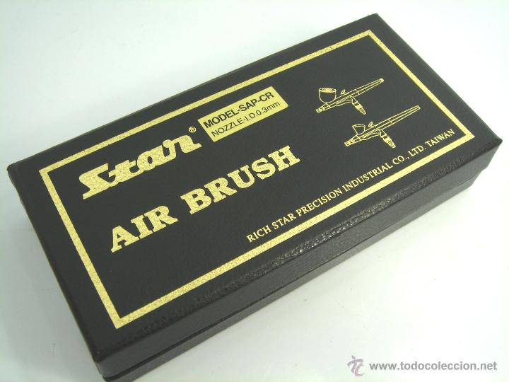 Hobbys: AEROGRAFO STAR ¡¡NUEVO¡¡ MODEL SAP - CR NOZZLE-I.D.0.3MM - AIR BRUSH ¡¡ EN CAJA ¡¡ - Foto 3 - 53654980
