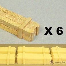 Hobbys: 6 CAJAS DE RESINA, 43,3 X 11,3 MM, 6 BOXES 43.3 X 11.3 MM, ESCALA 1/35, C-3509. Lote 130459574
