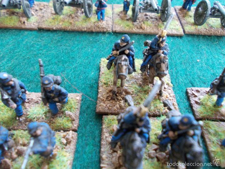 Hobbys: Colección figuras de plomo Guerra de la secesión Americana en 15mmm pintadas bién - Foto 2 - 57965713