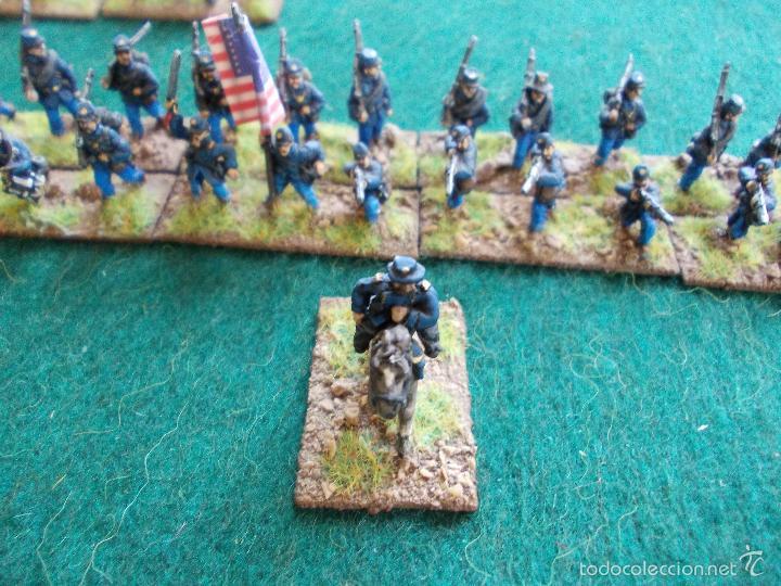 Hobbys: Colección figuras de plomo Guerra de la secesión Americana en 15mmm pintadas bién - Foto 3 - 57965713