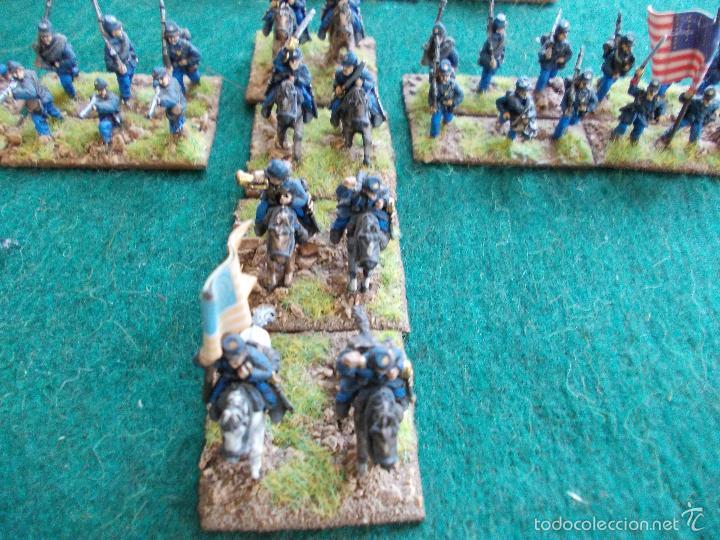 Hobbys: Colección figuras de plomo Guerra de la secesión Americana en 15mmm pintadas bién - Foto 4 - 57965713