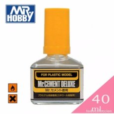 Hobbys: MR. HOBBY MC127 CEMENT GLUE DELUXE 40ML COMBINED SHIPMENTS. Lote 68652997