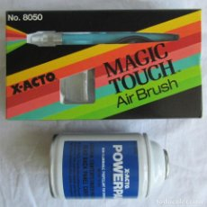 Hobbys: AERÓGRAFO MAGIC TOUCH X-ACTO + BOMBONA DE AIRE. SIN USO. Lote 87358876
