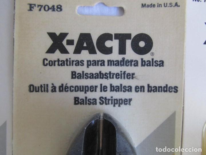 Hobbys: 3 cortatiras para madera balsa X-ACTO. Sin uso - Foto 2 - 148298113
