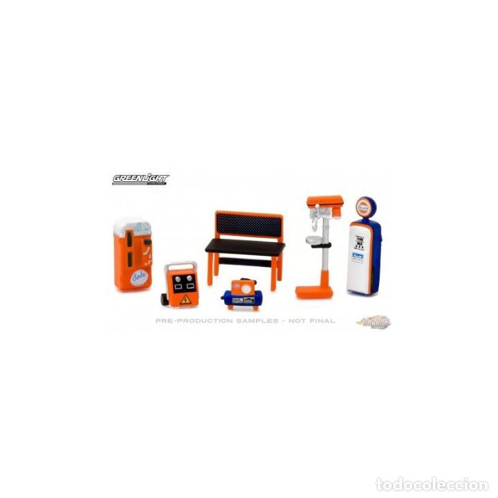 Hobbys: Juego de herramientas para diorama de taller Gulf esc. 1:64 greenlight - Foto 2 - 90177184