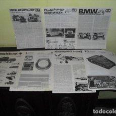 Hobbys: 7 EJEMPLARES FOLLETOS DE MONTAJE MAQUETAS MATERIAL MILITAR, AVIONES TANQUES, MOTOS.. AÑOS 70-80-. Lote 93614105
