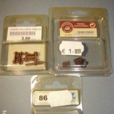 Hobbys: LOTE 3 BLISTERS CON CAÑONES; BOMBAS Y TRAMPILLAS PARA MODELISMO - CONSTRUCTO. Lote 111817495