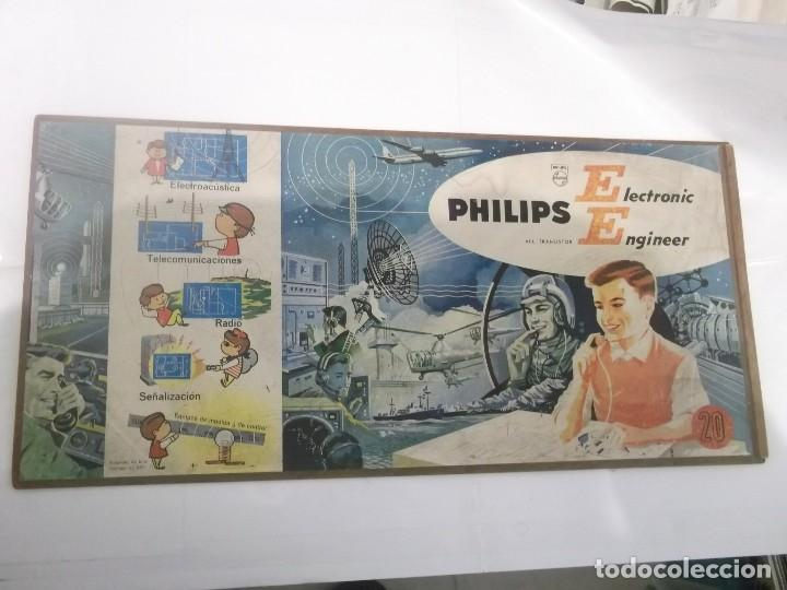 Hobbys: TAPA CAJA JUEGO - ELECTRONIC PHILIPS ENGINEER 20 - MEDIDAS 54X26 CMS - Foto 1 - 116180787