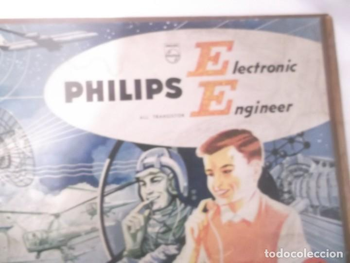 Hobbys: TAPA CAJA JUEGO - ELECTRONIC PHILIPS ENGINEER 20 - MEDIDAS 54X26 CMS - Foto 2 - 116180787