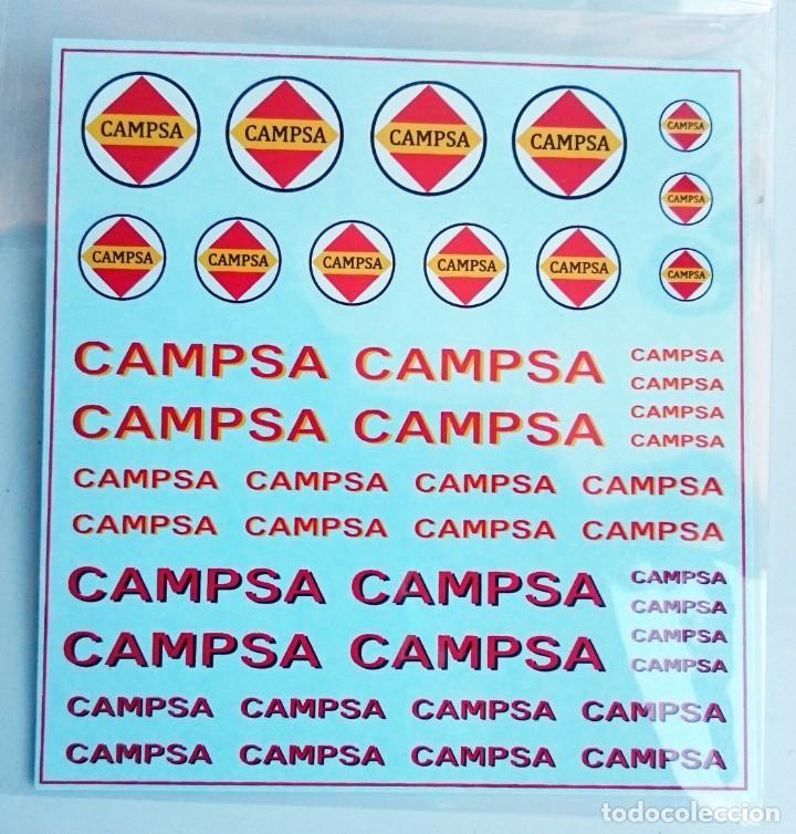 TRANSFERIBLES AL AGUA ANTIGUOS LOGOTIPOS CAMPSA 1/87 HO - DES-CATALOGADAS (Juguetes - Modelismo y Radiocontrol - Herramientas y Accesorios)