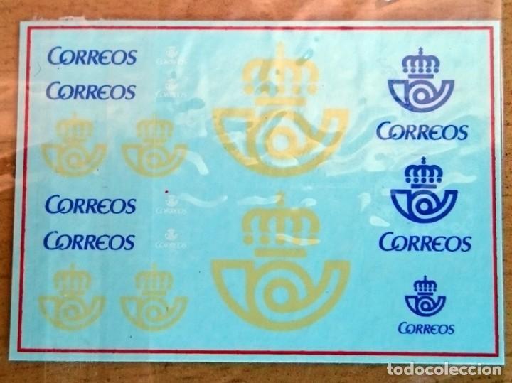 TRANSFERIBLES AL AGUA LOGOTIPOS CORREOS ESPAÑA 1/43 (Juguetes - Modelismo y Radiocontrol - Herramientas y Accesorios)