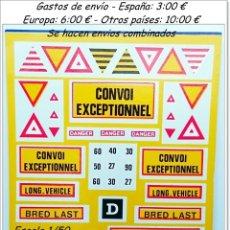 Hobbys: TRANSFERIBLES AL AGUA CONVOY EXCEPCIONAL / RARAS. Lote 93302785