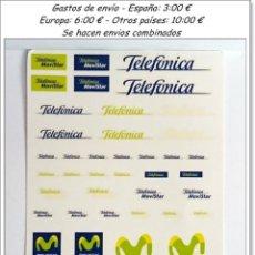 Hobbys: CALCAS TRANSFERIBLES AL AGUA TELEFÓNICA MOVISTAR / DESCATALOGADAS. Lote 55224412