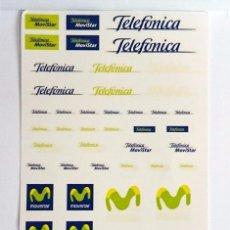 Hobbys: TRANSFERIBLES AL AGUA TELEFÓNICA MOVISTAR / POSIBLEMENTE ÚNICA. Lote 55224412