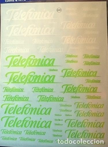 Hobbys: TRANSFERIBLES AL AGUA / NOMBRE TELEFONICA - Foto 3 - 127637203
