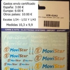 Hobbys: CALCAS TRANSFERIBLES AL AGUA / NOMBRE Y LOGO MOVISTAR. Lote 127637307