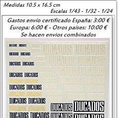 Hobbys: CALCAS TRANSFERIBLES AL AGUA MULTI ESCALA DUCADOS. Lote 127686455