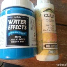 Hobbys: WATER EFFECTS Y CLASS COLOR PARA MARMOLIZAR. Lote 128879827
