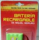 Hobbys: BATERÍA RECARGABLE NIQUEL HIDRURO IMC NIKKO. PARA 9,6 V RACING PACK 1300 MAH. ¡¡NUEVA, ORIGINAL!!. Lote 131650362