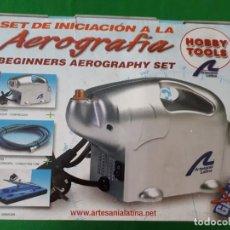 Hobbys: SET INICIACION AEROGRAFIA HOBBY TOOLS – NUEVO. Lote 131769390