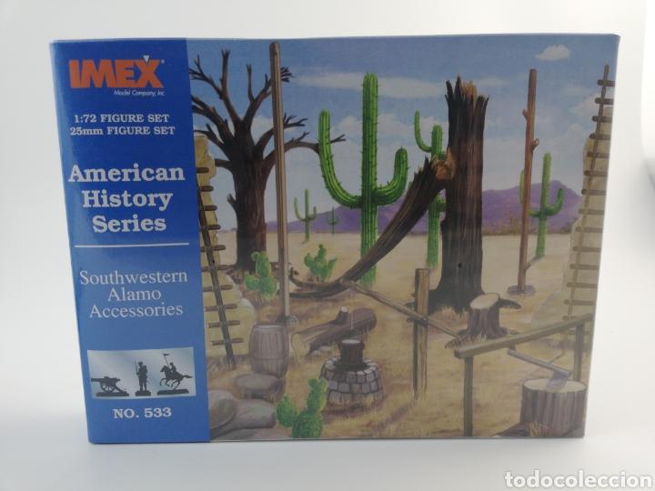 IMEX ACCESORIOS ALAMO, AMERICAN HISTORY SERIES, ESCALA 1:72, 25MM, NUMERO 533, NUEVO. (Juguetes - Modelismo y Radiocontrol - Herramientas y Accesorios)