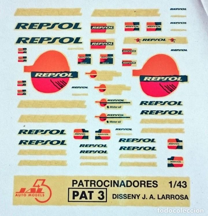 TRANSFERIBLES AL AGUA LOGOTIPOS REPSOL (Juguetes - Modelismo y Radiocontrol - Herramientas y Accesorios)