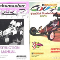 Hobbys: 2 MANUAL DE INSTRUCCIONES SCHUMACHER. THE HOT CONTENDER 2WD Y COUGAR 2. Lote 152311818