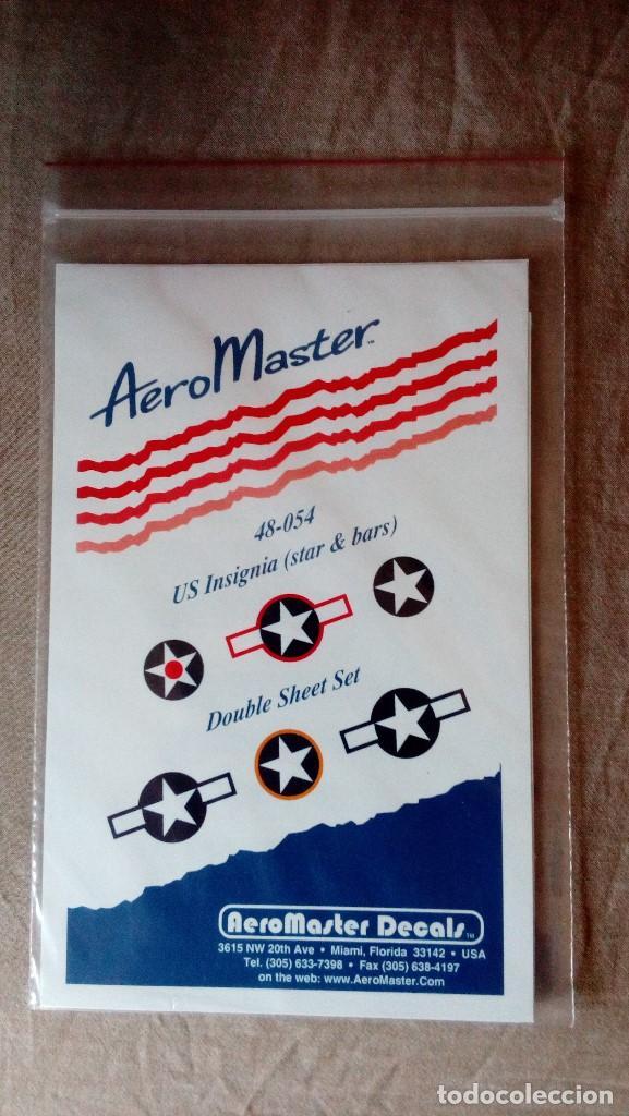 AEROMASTER 48-054: JUEGO DE CALCAS (DECALS) US INSIGNIA (STAR & BARS), JUEGO DE DOS HOJAS (Juguetes - Modelismo y Radiocontrol - Herramientas y Accesorios)