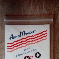 Hobbys: AEROMASTER 48-054: JUEGO DE CALCAS (DECALS) US INSIGNIA (STAR & BARS), JUEGO DE DOS HOJAS. Lote 154114902