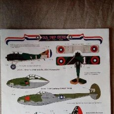 Hobbys: AERO MASTER SP 48-03: JUEGO DE CALCAS (DECALS) U.S. TOP GUNS USAS, USAAF AND USAF FIGHTER ACES. Lote 190907056