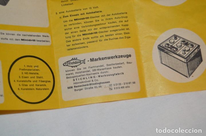 Hobbys: VINTAGE MINI TALADRO STICHLING MINI DRILL 19 201 - CON CAJA, PAPELES Y ACCESORIOS VARIOS - ENVÍO 24H - Foto 13 - 159579310