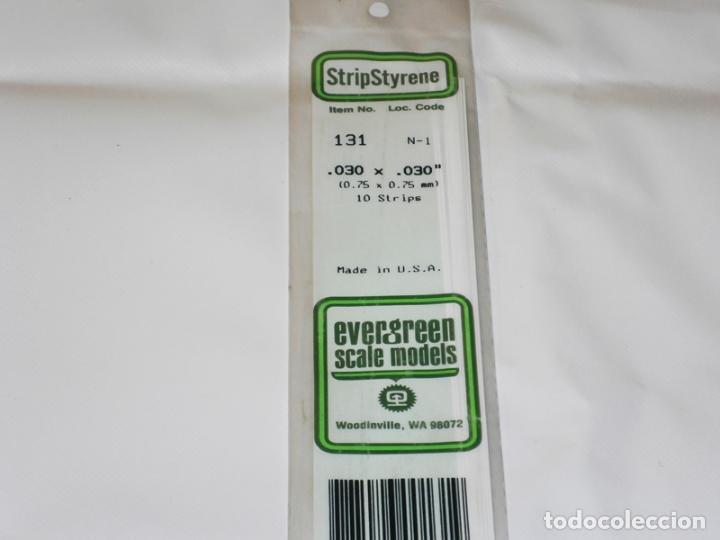 EVERGREEN 131. 10 TIRAS DE ESTIRENO DE 0,75 X 0,75 MM. (Juguetes - Modelismo y Radiocontrol - Herramientas y Accesorios)