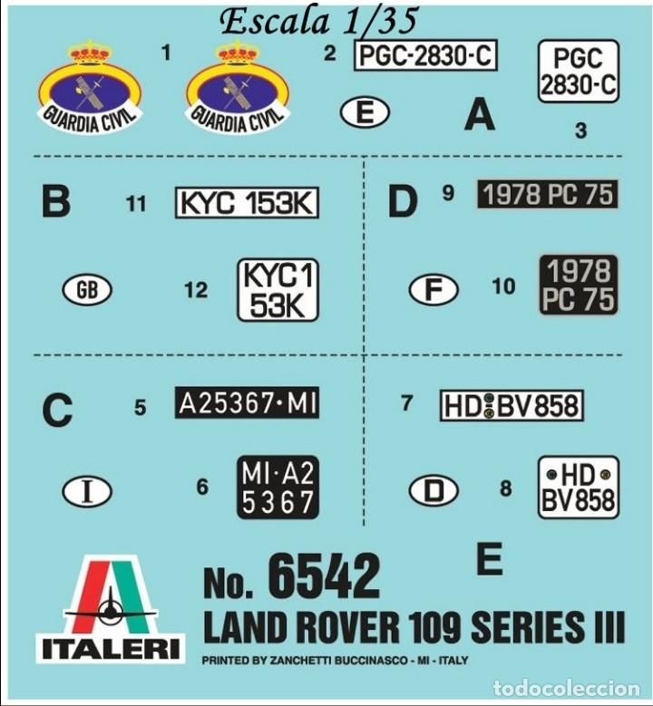 ITALERI TRANSFERIBLES AL AGUA - MATRÍCULAS (Juguetes - Modelismo y Radiocontrol - Herramientas y Accesorios)