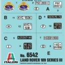 Hobbys: ITALERI TRANSFERIBLES AL AGUA - MATRÍCULAS. Lote 131134460
